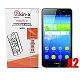 [X2 Pack] skin-a® Pellicola protettiva, protezione in vetro temperato per Huawei Y6 II (2)