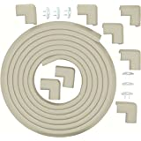 ULTIMATE VALUE BUNDLE Premium 17ft Edge And 8 Corner Guards - Keep Toddlers Safe While They Learn to Walk. FREE 6 Pack Of Home Safety Electric Plug Protectors. Easily Affix The Child Safety Bumpers to All Types of Furniture. Stylish White / Beige Color. Won't Damage Furniture. Ultra Thick. Child Safe. Cover 20 feet of Sharp Edges And Corners. Lifetime Guarantee on All Protectors.