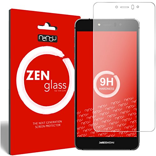 nandu I ZenGlass Flexible Glas-Folie für Medion Life X5020 Panzerfolie I Bildschirm-Schutzfolie 9H