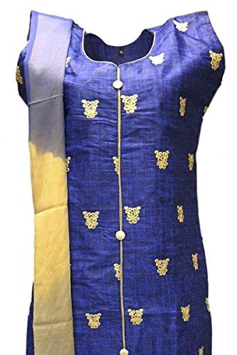 CSK158 Royal Blue e Tan Salwar Kameez Indian Bollywood Salwar Suit Royal Blue