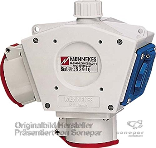 Mennekes Delta-Box 92916 2xCEE16A5P,Schuko DeltaBOX CEE-Steckdosen-Kombination 4015394088608 (Box Delta)