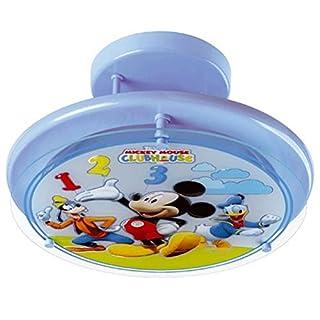 Dalber Ceiling Light Round Glass and Metal Blue–LA MAISON DE Mickey