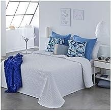 COTTON ART- Colcha PIQUE BLANCO Mod. BIDEA cama de 180 (270 x 260