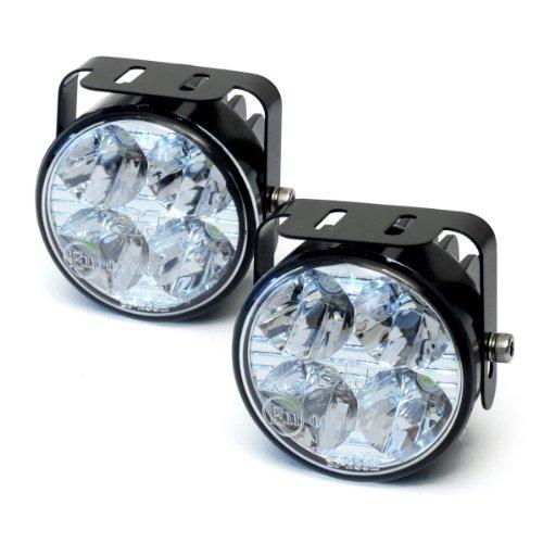 Preisvergleich Produktbild devil eyes 610759 LED Tagfahrlicht rund ECE R87 2 X 4 LEDs