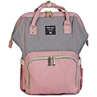Motherly Stylish Babies Diaper Bags for Mothers - Premium Version (Grey Pink)