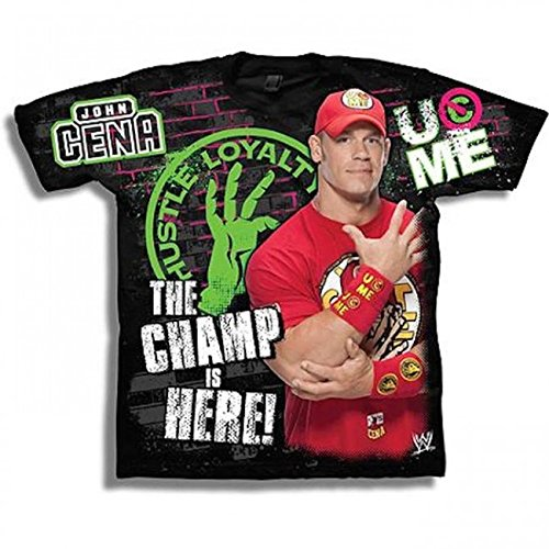 Kinder T-Shirt John Cena Champ is Here Retro, Gr.:XL - John Cena T-shirts