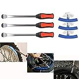 YOTINO Set Leve Smontagomme 3PCS Cucchiaio Pneumatico + 3PCS Cerchione Protettivo Strumento per Cambia Pneumatico per Bici Moto ECC.