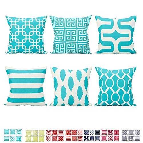 Comoco 6er Set Zuhause Kissen Leinen aus Baumwolle Neue Living-Serie dekorativ Dekokissenbezug Kissenbezug 18