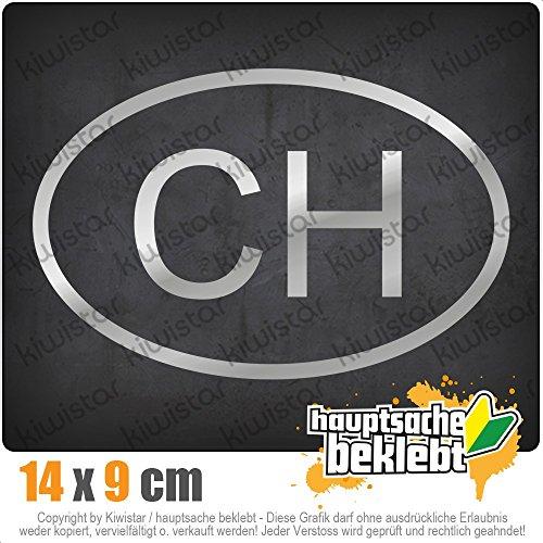 KIWISTAR Schweiz CH IN 15 FARBEN - Neon + Chrom! Sticker Aufkleber (Ch)