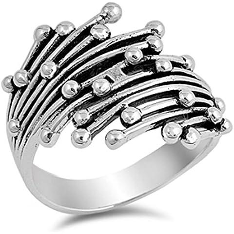 Sterling Silver Dots Anello astratta - Sterling Silver Dot Design