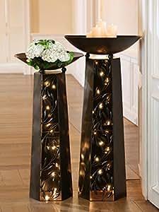 schalenst nder pianta mit schale rund metalls ule lackiert. Black Bedroom Furniture Sets. Home Design Ideas