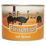 Schecker Dogreform Fleischtopf mit Straußfleisch 12 x 195g Nassfutter glutenfrei getreidefrei Straußenfleisch Cholesterin fettarm leicht bekömmlich