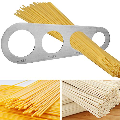 Runy Nudel-Messgerät aus Edelstahl, 4 Löcher, Spaghetti-Messgerät, Küchenzubehör