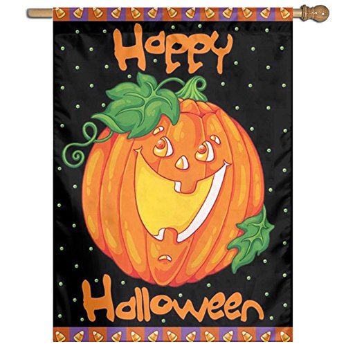 Citihomy Hausgarten Flagge Dekorativ Für Draußen Innenpartei Yardflagge Glückliches Halloween 27