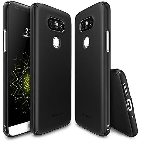 Funda LG G5, Ringke [SLIM] Cubierta ultrafina [cómodo ajuste] Lado esencial al lado del borde de la cobertura de recubrimiento superior, dura de la PC de la piel para LG G5 2016 - SF Black