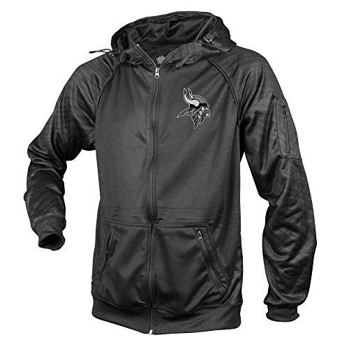 Zubaz NFL Herren Atlanta Falcons, Herren, Men's NFL Black Tonal Zebra Print Team Logo Full Zip Hoodie, Tonal Zebra Print, X-Large (Niners Sweatshirt)