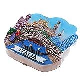Homyl Decoración de Atracción Turística Mini 3D Diseño de Imán Creativo de Nevera Adornos del Hogar - Venecia