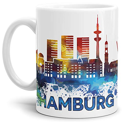 Tassendruck Hamburg-Tasse Skyline - Kaffeetasse/Mug/Cup - Qualität Made in Germany