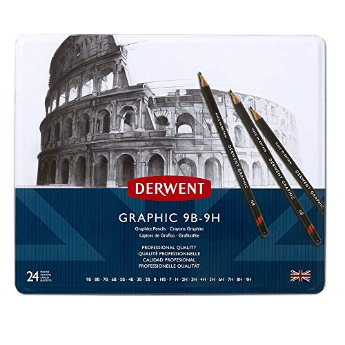 Derwent Graphic - Lápices de grafito 24 unidades