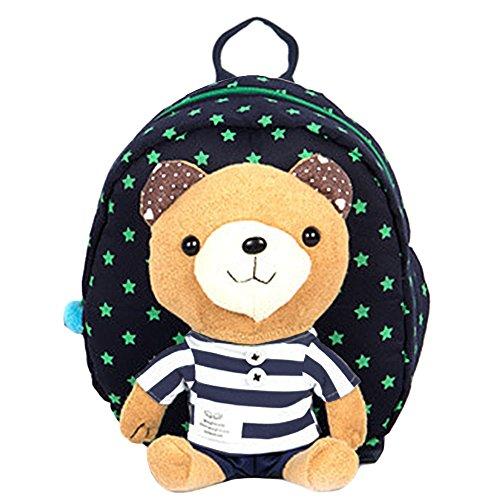 Preisvergleich Produktbild KingNew Kinder Tasche Kindergarten Cartoon Rucksack Tier-Muster Rucksack für Kleinkinder (dunkelblau)