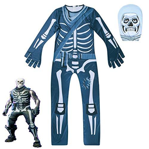 BaronHong Halloween Unisex Lycra Spandex Cosplay Kostüme Ghost Gingerbread Man 3D Style (blau, 150cm)