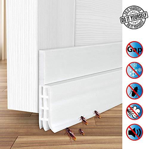 Dichtungsband für Türen, ZCZUOX selbstklebend,100 cm x 5 cm, weiches Silikon, isolierend, thermisch isolierend, gegen Staub und Lärm, gegen Mäuse, Ameisen, Kaker, Insekten -
