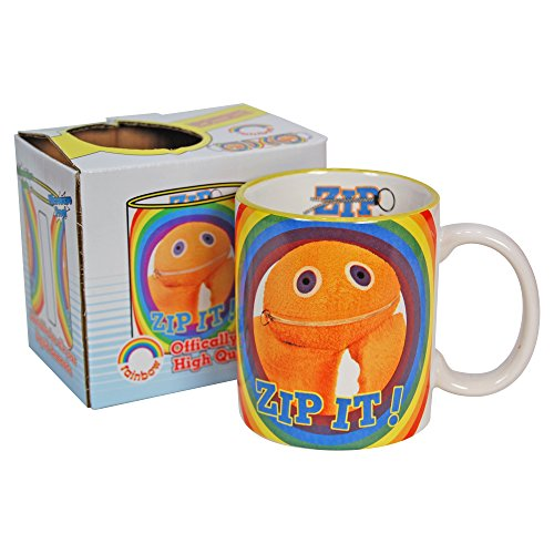 Officially licensed Rainbow Zippy Zip It! Mug in a gift box