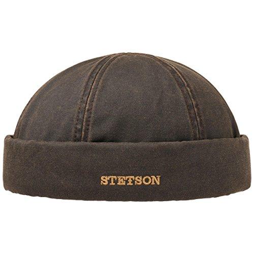 Stetson Bonnet Docker Old Cotton Winter Homme - pour l'hiver avec Revers, Bonnets Docker, Doublure, Ferme a l'Arriere, Doublure Automne-Hiver
