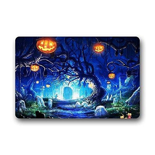 shizh Fußmatten Halloween Hintergrund Fußmatte Tor Pad Outdoor Indoor Bad Küche Dekor Bereich Teppich Bodenmatte 40x60 cm