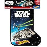 Festeggia l'epifania con la calza Star Wars La Befana porterà nella sua calza un sacco di sorprese:-2 astronavi Hot Wheels-1 set luci LED per bicicletta-1 set stickers termodinamici-1 coppia di auricolari