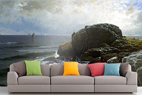 The Museum Outlet Roshni Arts®-kuratierte Art Wall Mural-Bricher-Castle Rock, Marblehead (| selbstklebend Vinyl Ausstattung Décor Art Wand-121,9x 91,4cm