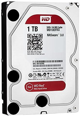 WD Red 1TB interne Festplatte SATA 6Gb/s 64MB interner Speicher (Cache) 8,9 cm 3,5 Zoll 24x7 5400Rpm optimiert für SOHO NAS Systeme 1-8 Bay HDD Bulk WD10EFRX