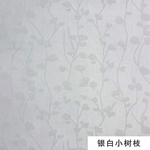 Tapete Tapete selbstklebend wasserdicht Schlafzimmermöbel Hintergrund Wand selbstklebend silber weiß Zweig Pink Miss Zebra