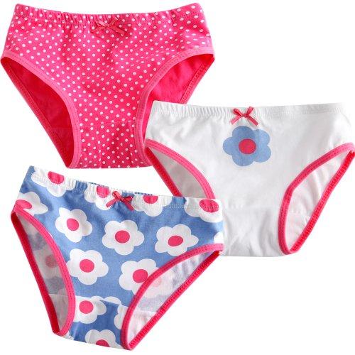 Vaenait baby Maedchen Unterhosen 3-Packung Slips Set Briefs Berbena S