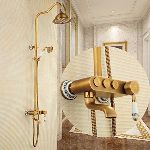 PIGE European Style Dusche Heiße und kalte Dusche Set WC Retro Kupfer antik Dusche Suite Bad Badewannenlift - Suite Wc