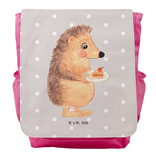 Mr. & Mrs. Panda Kids, Rucksack, Kinderrucksack Igel mit Kuchenstück - Farbe Grau Pastell