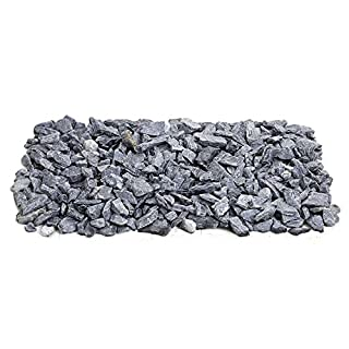 Quarrystore Grey Slate Approximately 20mm in Size - Ideal Outside Decorative Slate Chippings for Gardens and Outdoor Projects - 20kg Bag