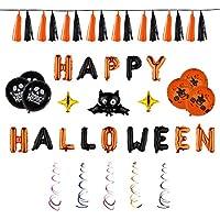 Kesote Palloncini  Happy Halloween  a Forma di Pipistrello 17 Palloncini di  Stagnola + 12 4fbc6c9b1dc6