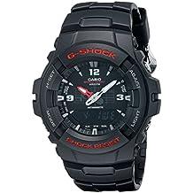 G-Shock G-100-1BVMUR - Reloj analógico - digital de caballero de cuarzo con correa negra - sumergible a 200 metros