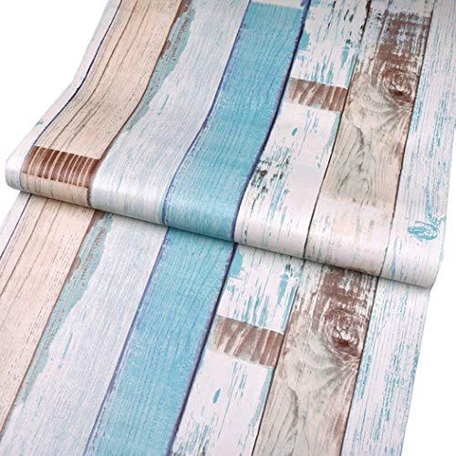 Decorativo Panel de madera patrón Contacto Papel autoadhesivo papel pintado Estante Liner Peel and Stick para cubrir armario de cocina encimera estantes manualidades 17,7pulgadas por 16pies