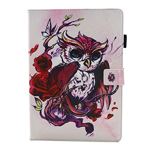 iPad IPad pro 10.5 Custodia per IPAD iPad pro 10.5 inch, inShang Smart Cover case in pelle PU, supporto per tenere L'iPad sollevato, magnetico per sleep e standby Butterflies and owls