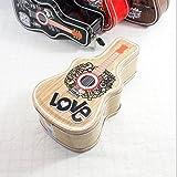 SKNSM Geldbank Hip Hop Gitarre Sparschwein Erstaunliche Weißblech Candy Jar mit Schloss (Aprikose) für Ein Geschenk