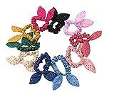 Elastici per i capelli con fiocco per bambine, ragazze e neonati, 10 pezzi, colore casuale