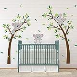 ufengke Stickers Muraux Koala Arbre Autocollants Mural Animaux DIY pour Chambre Enfants Bébé Pépinière Salon Décoration Murale