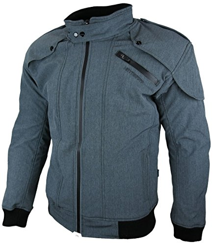 Heyberry Soft Shell Motorradjacke Textil Grau meliert Gr. L