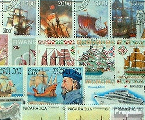 Prophila Collection Motive 50 Verschiedene Schiffe und Boote Marken (Briefmarken für Sammler) Seefahrt