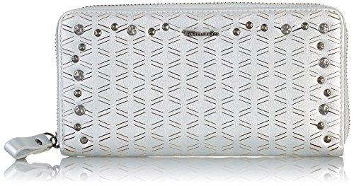 Tamaris Damen Marla Big Zipped Around Wallet Geldbörse, Silber (Silver), 2x10x19.5 cm