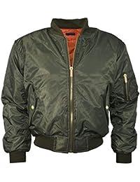 MA1 llanura de EE.UU. piloto de aire postal arriba del motorista Bombardero capa de la Cazadoras chaqueta abrigo acolchada Para niñas niños chicas chicos 7-13 años