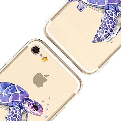 MOMDAD iPhone 6S Plus Coque iPhone 6S Plus 5.5 Pouces Housse Etui Anti chocs Back Cover Bumper Case Anti Scratch Shock Absorption pour iPhone 6 Plus/ 6S Plus 5.5 Pouces Transparente Coque TPU Souple C Poisson Fish-6