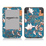 Diabloskinz Vinyl Adhesive Skin Decal Sticker for Amazon Kindle Keyboard - Blue Flower
